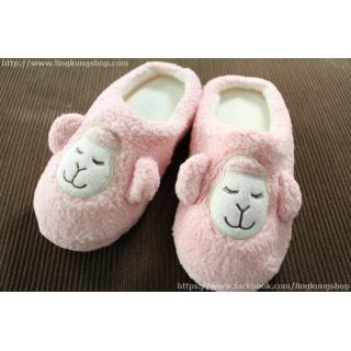 รองเท้าใส่ในบ้าน น้องแกะน่ารัก alpaca ขนนุ่ม