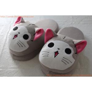 """รองเท้าใส่ในบ้าน ลายการ์ตูน """"น้องแมวจี้"""""""
