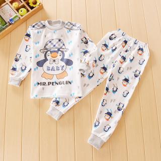 ชุดนอนเด็กน่ารัก ลายเพนกวิน สำหรับเด็ก 1-4ขวบ (ไซส์55-70)