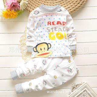 ชุดนอนเด็กน่ารัก ลายพอลแฟร้ง สำหรับเด็ก 1-4ขวบ (ไซส์55-70)