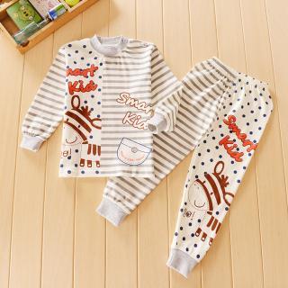 ชุดนอนเด็กน่ารัก แขนยาวขายาว ลายเจ้าม้าน้อย สำหรับเด็ก 1-4ขวบ (ไซส์55-70)