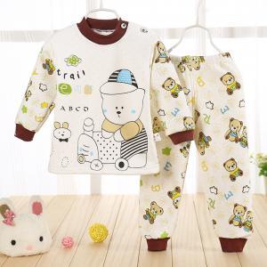 ชุดนอนเด็กน่ารัก เนื้อผ้าหนานุ่ม สำหรับหน้าหนาว สำหรับเด็ก 1-4ขวบ (ไซส์60-70)