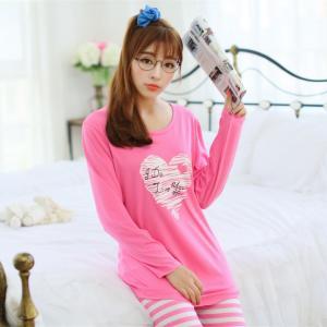 ชุดนอนน่ารัก สไตล์เกาหลี แขนยาวขายาว (M,L,XL)