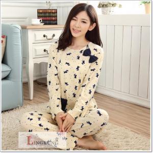 ชุดนอนเกาหลี แขนยาวขายาว สไตล์น่ารัก ใส่สบาย