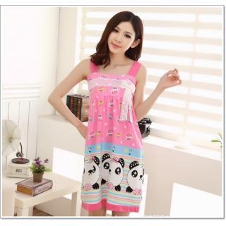 ชุดนอนกระโปรงเดรส เกาหลี น้องแพนด้า ผ้านิ่มๆ