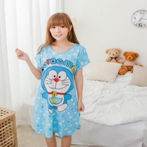 ชุดนอนกระโปรง ลายโดราเอมอน (Doraemon) ผ้านิ่มๆ ฟรีไซส์ใหญ่