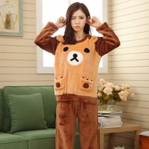 ชุดนอนแขนยาวขายาว น้องหมี ริลัคคุมะน่ารัก ใส่นอนหน้าหนาว