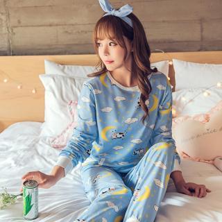ชุดนอนน่ารัก สไตล์สาวเกาหลี แขนยาวขายาว พร้อมผ้าปิดตา แสนน่ารักสุดชิค หลับสบาย