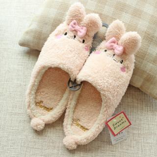 รองเท้าใส่ในบ้าน น้องต่ายหูยาว สีชมพูฟรุ้งฟริ้ง Sweet dream