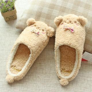 รองเท้าใส่ในบ้าน น้องหมีสีน้ำตาลน่ารักฝุดๆ Sweet Dream