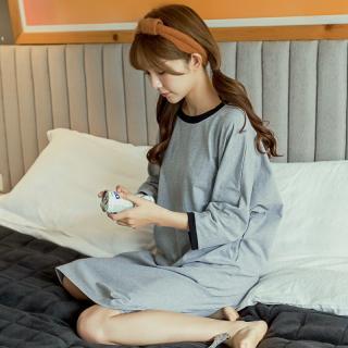 ชุดนอนเกาหลี เดรสตัวยาว สไตล์สาวเกาหลี ยอดฮิต คุณภาพดี