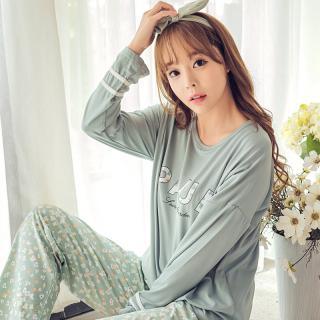 ชุดนอนผู้หญิง แฟชั่นเกาหลี แขนยาวขายาว พร้อมผ้าปิดตา แสนน่ารักสุดชิค หลับสบาย
