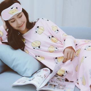 ชุดนอนไซส์ใหญ่น่ารัก ชุดเดรสยาว ลายน้องวัว แสนน่ารักสุดๆ สไตล์เกาหลี ปังมากๆ