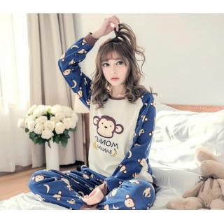 ชุดนอนแขนยาว สไตล์เกาหลี เจ้าลิงจั๊ก พร้อมผ้าปิดตาสุดชิค พร้อมส่ง