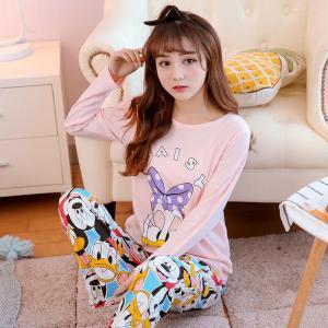 ชุดนอนแขนยาว ลายเดซี่ดั๊ก ผ้านิ่ม สวยน่ารักในแบบสาวเกาหลี