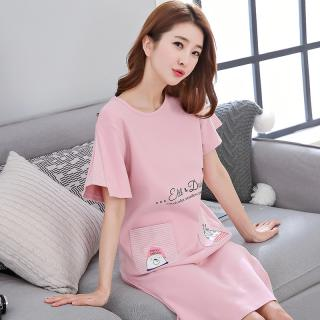 ชุดนอนกระโปรง แฟชั่นสไตล์เกาหลี ตัวใหญ่ 2XL Cotton 100% 1709235