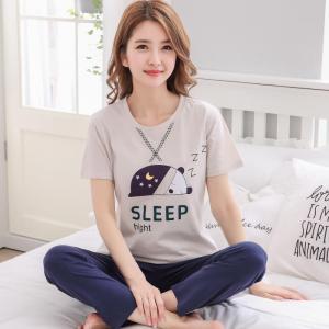 ชุดนอนน่ารัก เสื้อแขนสั้น กางเกงขายาว Cotton Sleep Night 1709266
