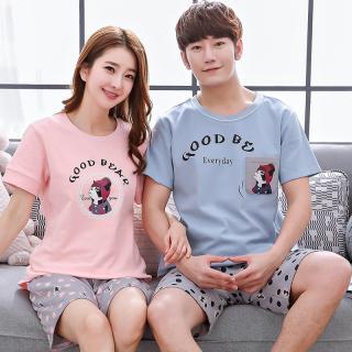 ชุดนอนคู่รัก ชายหญิง ลายหมาปั๊ก น่ารักสไตล์เกาหลี Cotton 100% (ราคาต่อชุด)