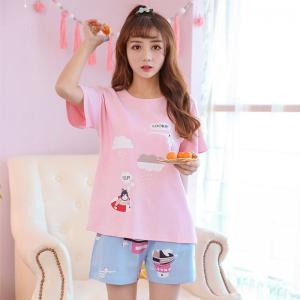 ชุดนอนน่ารัก สไตล์เกาหลี ลายน่ารัก หวานๆ Cotton 100% 1803253