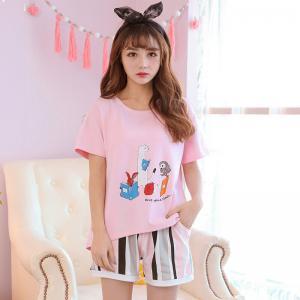 ชุดนอนแฟชั่น สไตล์เกาหลี ลายน่ารัก หวานๆ Cotton 100% 1803254