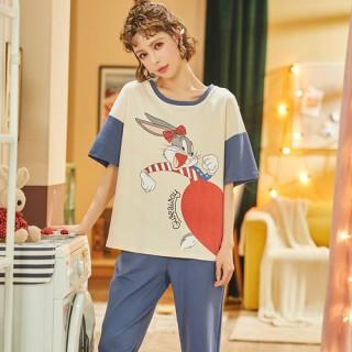 ชุดนอนแขนสั้น กางเกงขายาว ลายกระต่ายบันนี่ LKC2006023