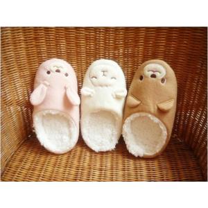 รองเท้าใส่ในบ้าน ลายน้องหมีน้ำตาล