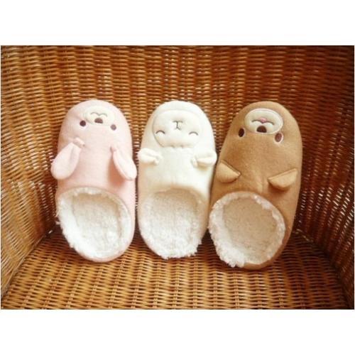 รองเท้าใส่ในบ้าน ลายน้องหมี น้องแกะ น้องกระต่าย
