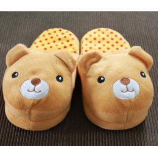 รองเท้าใส่ในบ้าน รองเท้าตุ้กตา ลายน้องหมีน่ารัก