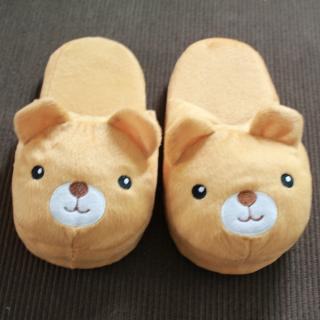 รองเท้าใส่ในบ้าน  ลายน้องหมีน่ารัก