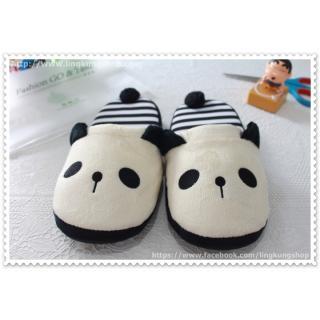 [New] รองเท้าใส่ในบ้าน ลายหมีแพนด้าขาว