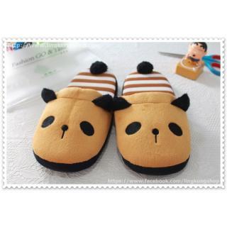 [New] รองเท้าใส่ในบ้าน ลายหมีแพนด้าน้ำตาลอ่อนๆ