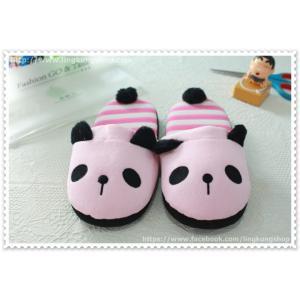 [New] รองเท้าใส่ในบ้าน ลายหมีแพนด้าสีชมพู
