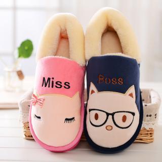 รองเท้าใส่ในบ้าน แมวเหมียว แมวแว่น หุ้มส้น น่ารักซะมะมี