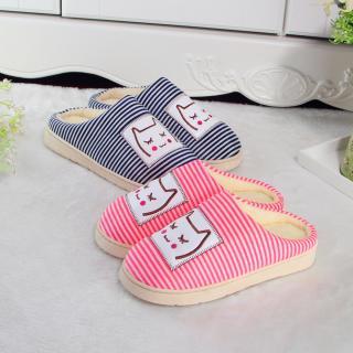 รองเท้าใส่ในบ้าน ลายขวาง ขนปปุยนุ่ม มี2สี ใส่ทำงานใส่อยู่บ้าน น่ารักทุกการเดิน