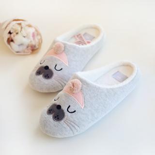รองเท้าใส่ในบ้าน สไตล์ญี่ปุ่น น้องแมวน้ำ คัตติ้งเนี้ยบ Limited Edition จากแบรนด์ Halluci