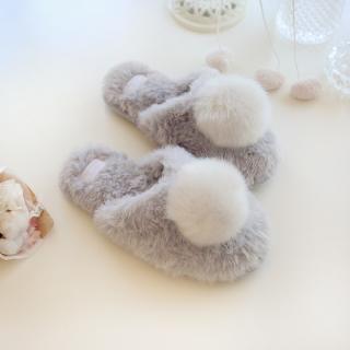 รองเท้าใส่ในบ้าน สไตล์ญี่ปุ่น ขนนุ่มฟู จากแบรนด์ halluci โทนสีเรียบหรู พร้อมส่ง
