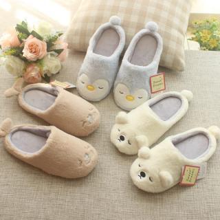 รองเท้าใส่ในบ้าน ลายสัตว์น่ารักๆ พื้นยางไม่ลื่น ใส่สบาย มี 3 ลายให้เลือก