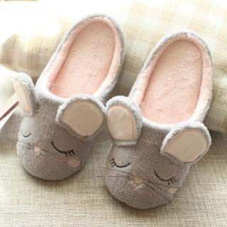 รองเท้าใส่ในบ้าน ลายเจ้าหนูน่ารัก พื้นยางบุผ้าไม่ลื่น