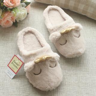 รองเท้าใส่ในบ้าน ลายน้องหมีมงกุฎน่ารัก ดูคุณหนูสุดๆ พื้นยางใส่สบาย