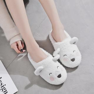 รองเท้า Slipper ใส่ในบ้าน น้องหมีผ้าฝ้ายนุ่มนิ่ม แบรนด์คุณภาพ Halluci