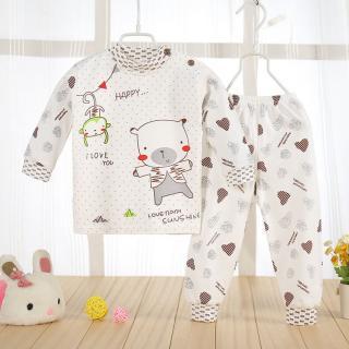 ชุดนอนเด็กแขนยาว 2 - 4 ขวบ ลายน้องหมีกับลิงจั๊ก Cotton 100%