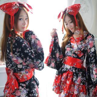ชุดคอสเพลย์ กิโมโนญี่ปุ่น แบบจัดเต็ม ครบเซ็ตสุดหรู
