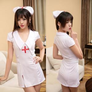 ชุดคอสเพลย์ พยาบาลเซ็กซี่ ผ้ายืด เร้าใจยามค่ำคืน