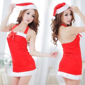 ชุดสาวแซนตี้คริสมาส ทั้งน่ารักทั้งเซ็กซี่ เนื้อกำมะหยี่ พร้อมหมวกซานต้า