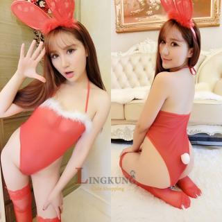ชุดคอสเพลย์กระต่ายเซ็กซี่ สีแดง จนหยุดใจไว้ไม่อยู่