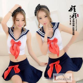 ชุดนักเรียนญี่ปุ่น คอสเพลย์เซ็กซี่สวยใสบริสุทธิ์ ฟินเวอร์