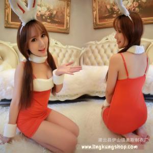 ชุดกระต่าย คอสเพลย์เซ็กซี่ สีแดง สายเดี่ยว ครบเซ็ต (ไม่รวมถุงน่องจ้า)