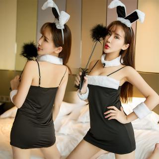 ชุดกระต่าย คอสเพลย์เซ็กซี่ สีดำ สายเดี่ยว ครบเซ็ต (ไม่รวมถุงน่องจ้า)