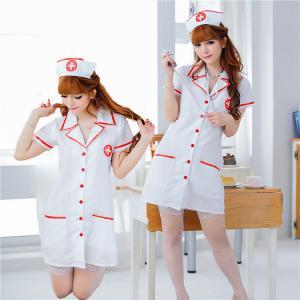 ชุดคอสเพลย์ พยาบาลเซ็กซี่ แบบเสื้อกาวน์ (ผ้าไม่ยืด) น่ารักได้ใจ