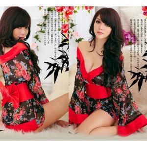 ชุดคอสเพลย์กิโมโน ลายดอกไม้ เซ็กซี่แบบสาวญี่ปุ่น เรียบหรู